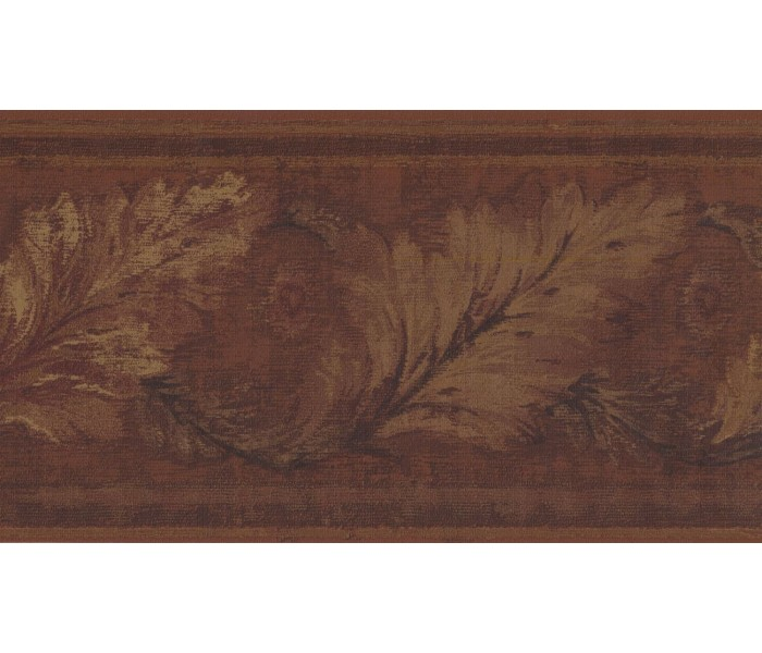 New  Arrivals Wall Borders: Leaves Wallpaper Border HG9163B