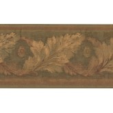 Prepasted Wallpaper Borders - Leaves Wall Paper Border HG9164B