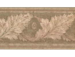 Prepasted Wallpaper Borders - Leaves Wall Paper Border HG9165B