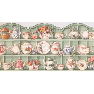 10 in x 15 ft Prepasted Wallpaper Borders - Kitchen Wall Paper Border HH90224B