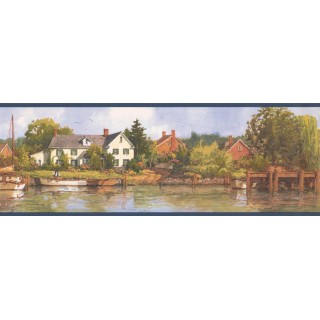 7 in x 15 ft Prepasted Wallpaper Borders - Country Wall Paper Border HRB4152