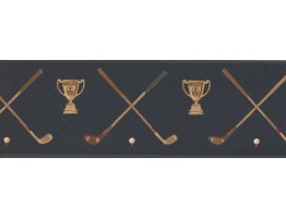 Prepasted Wallpaper Borders - Golf Wall Paper Border HU6054B
