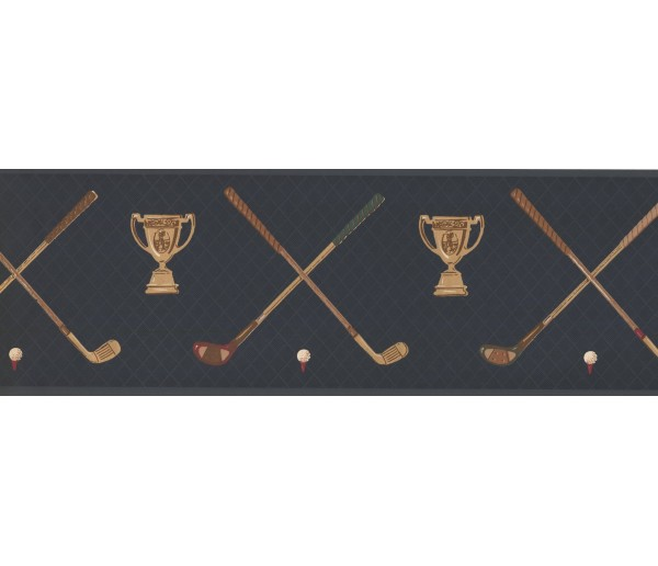 New  Arrivals Wall Borders: Golf Wallpaper Border HU6054B