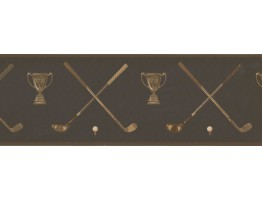 Prepasted Wallpaper Borders - Golf Wall Paper Border HU6057B