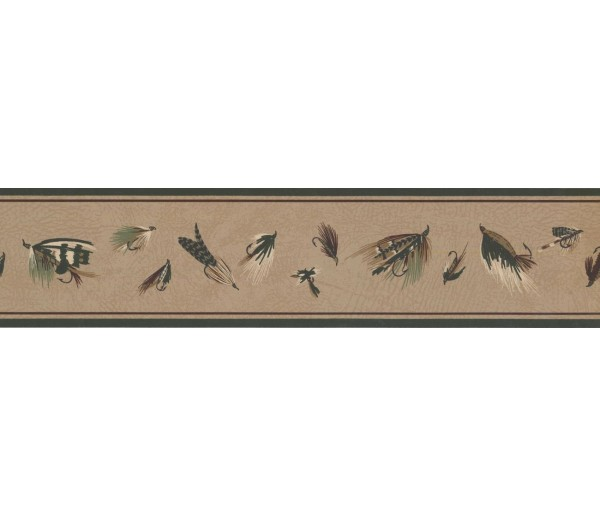 New  Arrivals Wall Borders: Fishing Wallpaper Border HU6223B