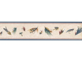 Prepasted Wallpaper Borders - Feather Wall Paper Border HU6226B