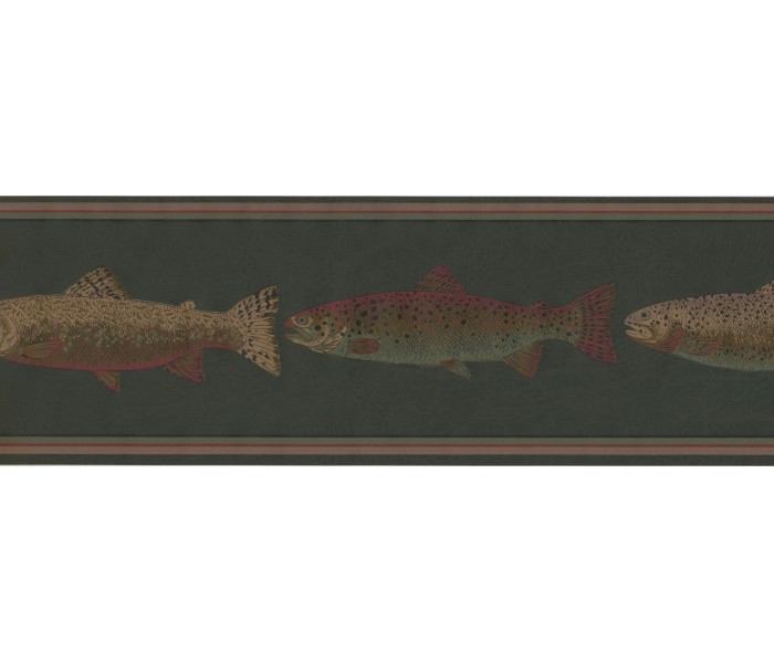 New  Arrivals Wall Borders: Fishes Wallpaper Border HU6252B