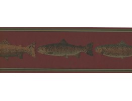 Prepasted Wallpaper Borders - Fish Wall Paper Border HU6254B