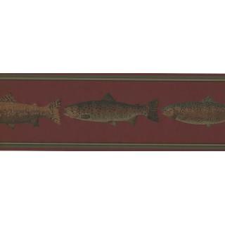 7 in x 15 ft Prepasted Wallpaper Borders - Fish Wall Paper Border HU6254B