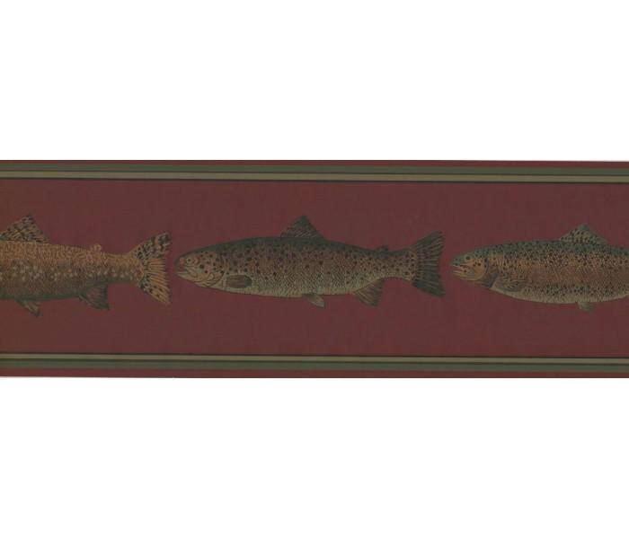 New  Arrivals Wall Borders: Fish Wallpaper Border HU6254B