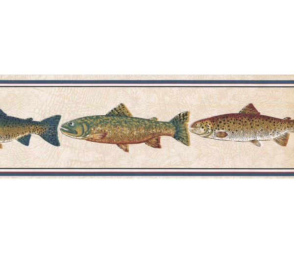 New  Arrivals Wall Borders: Fishes Wallpaper Border HU6255B
