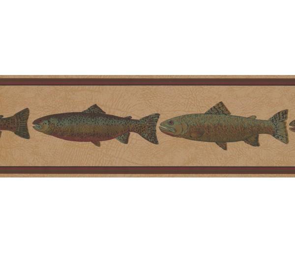 New  Arrivals Wall Borders: Fishes Wallpaper Border HU6256B