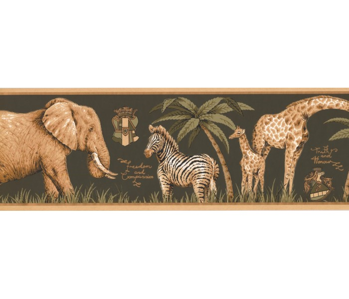 New  Arrivals Wall Borders: Jungle Animals Wallpaper Border HU6261B