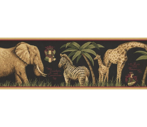 New  Arrivals Wall Borders: Jungle Animals Wallpaper Border HU6262B