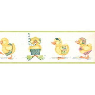 6.8 in x 15 ft Prepasted Wallpaper Borders - Duck Wall Paper Border ID5499B