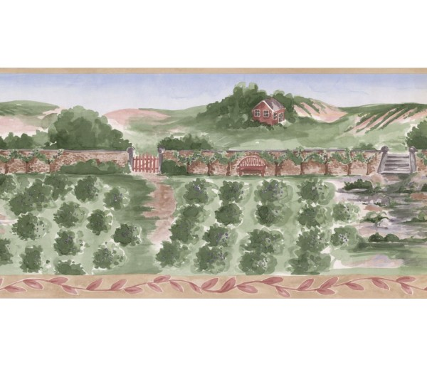 New  Arrivals Wall Borders: Country Wallpaper Border IG75152B