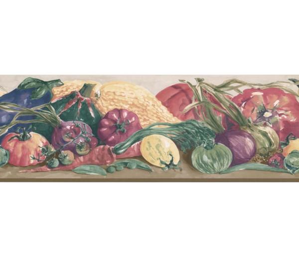 New  Arrivals Wall Borders: Vegetables Wallpaper Border IG75157B