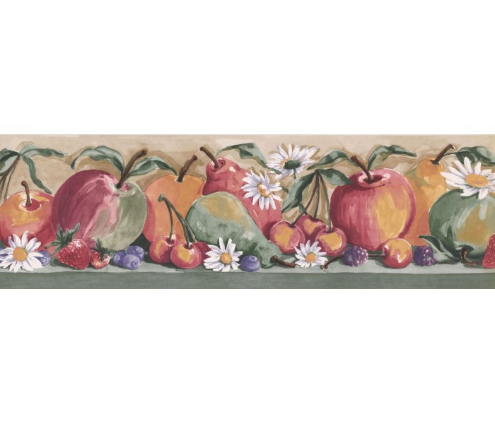 New  Arrivals Wall Borders: Fruits Wallpaper Border IG75162B