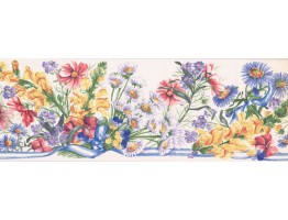 Prepasted Wallpaper Borders - Floral Wall Paper Border IG75163B