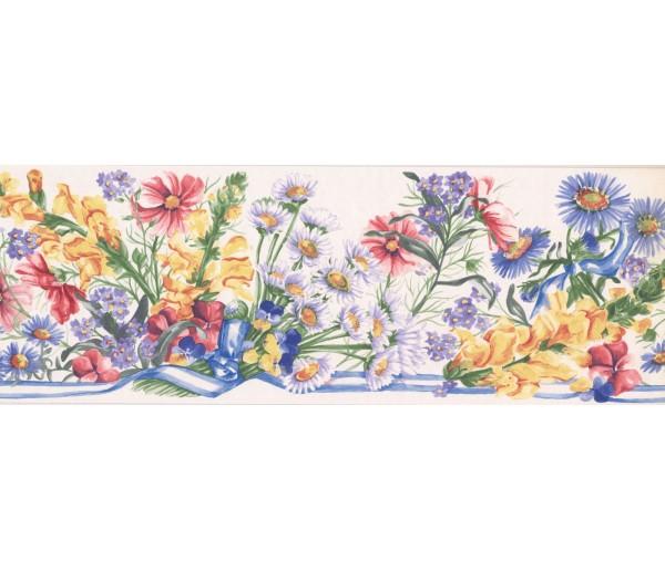 New  Arrivals Wall Borders: Floral Wallpaper Border IG75163B