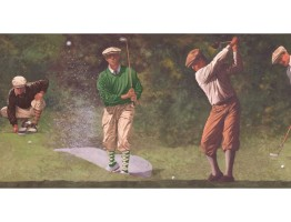 Prepasted Wallpaper Borders - Golf Wall Paper Border IN2652B