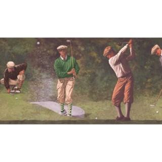 10 1/4 in x 15 ft Prepasted Wallpaper Borders - Golf Wall Paper Border IN2652B