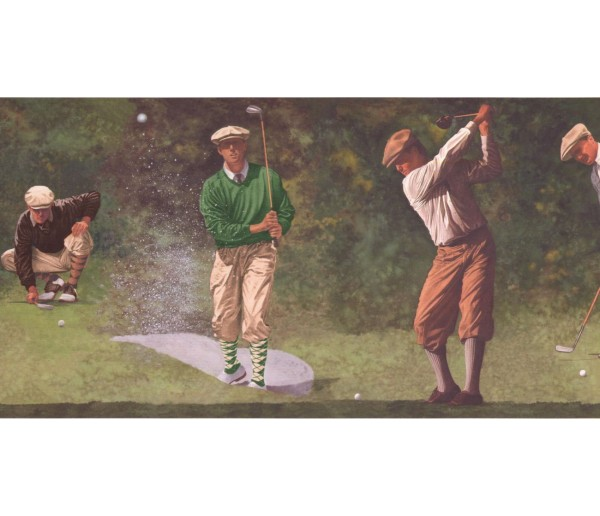 New  Arrivals Wall Borders: Golf Wallpaper Border IN2652B
