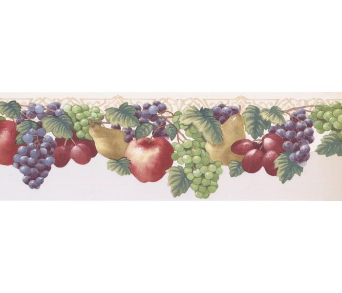 New  Arrivals Wall Borders: Fruits Wallpaper Border JK72471DL