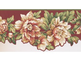 10 1/2 in x 15 ft Prepasted Wallpaper Borders - Floral Wall Paper Border JT7454B