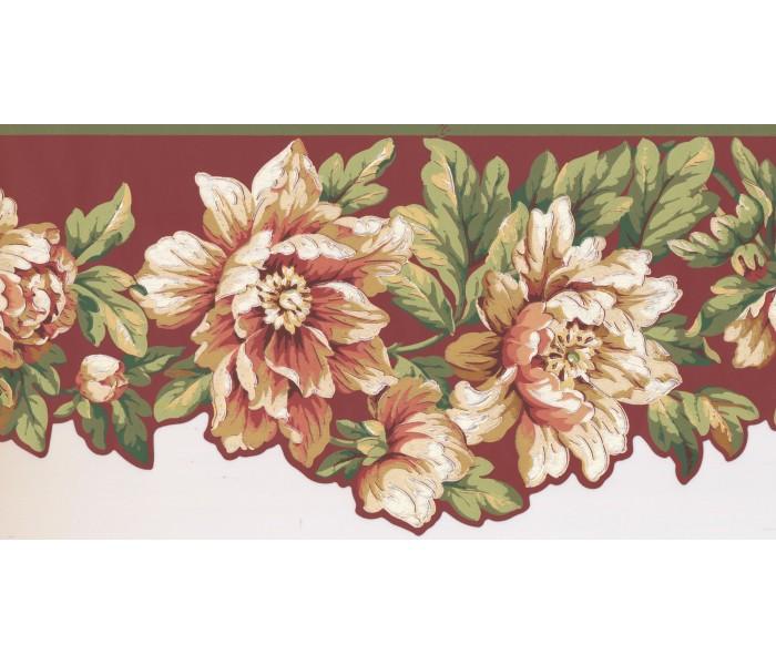 New  Arrivals Wall Borders: Floral Wallpaper Border JT7454B