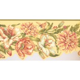 New  Arrivals Wall Borders: Floral Wallpaper Border JT7505B