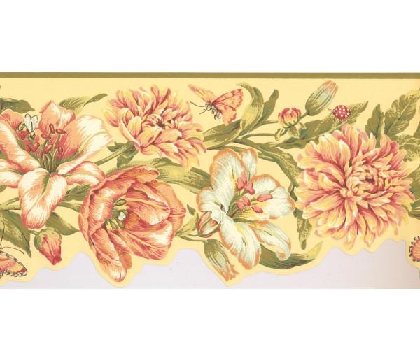 New  Arrivals Wall Borders: Floral Wallpaper Border JT7505B