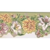New  Arrivals Wall Borders: Floral Wallpaper Border JT7506B