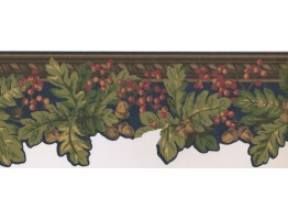 7 in x 15 ft Prepasted Wallpaper Borders - Fruits Wall Paper Border JT7553B