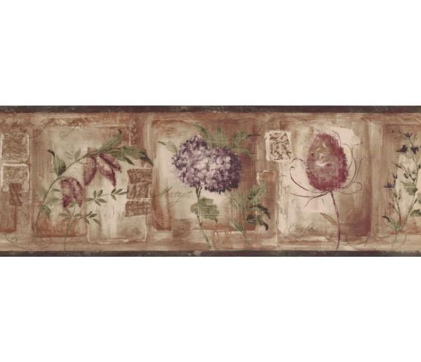 New  Arrivals Wall Borders: Floral Wallpaper Border KA75868