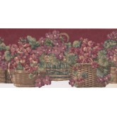 New  Arrivals Wall Borders: Floral Wallpaper Border KB103001