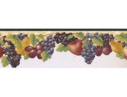 Prepasted Wallpaper Borders - Fruits Wall Paper Border KB73480DC