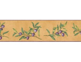 Prepasted Wallpaper Borders - Fruits Wall Paper Border KC78041