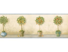 Prepasted Wallpaper Borders - Garden Wall Paper Border KC78047