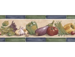 Prepasted Wallpaper Borders - Kitchen Wall Paper Border KF76662