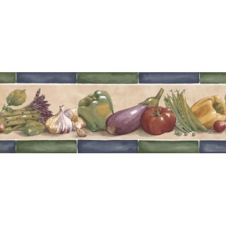 7 in x 15 ft Prepasted Wallpaper Borders - Kitchen Wall Paper Border KF76662