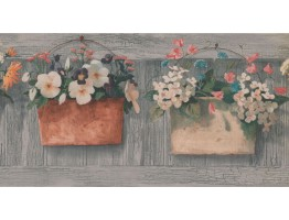 Prepasted Wallpaper Borders - Garden Wall Paper Border KH5876B