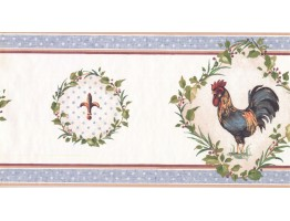 Prepasted Wallpaper Borders - Roosters Wall Paper Border KH5920B