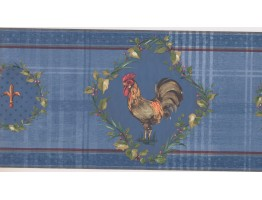 10 1/2 in x 15 ft Prepasted Wallpaper Borders - Roosters Wall Paper Border KH5922B