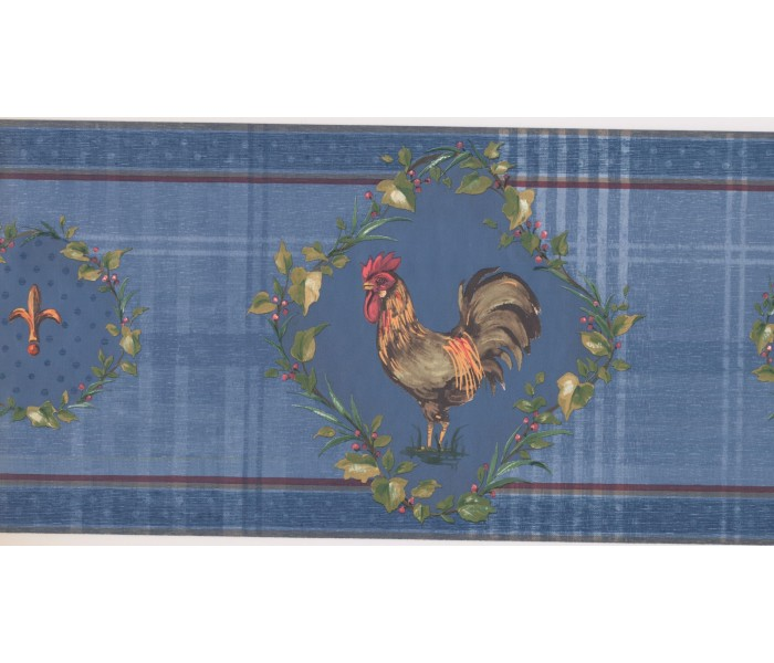 New  Arrivals Wall Borders: Roosters Wallpaper Border KH5922B