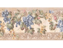 Prepasted Wallpaper Borders - Fruits Wall Paper Border KH6001B