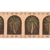 New  Arrivals Wall Borders: Palm Tree Wallpaper Border KM7700B
