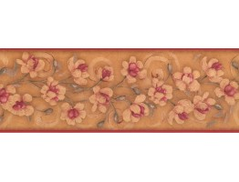Floral Wallpaper Border KM7775B