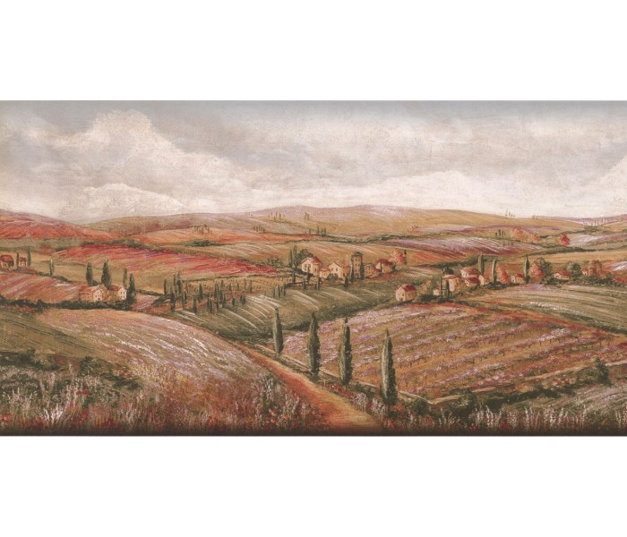 New  Arrivals Wall Borders: Country Wallpaper Border KM7804B