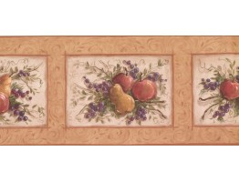 Prepasted Wallpaper Borders - Fruits Wall Paper Border KM7866B